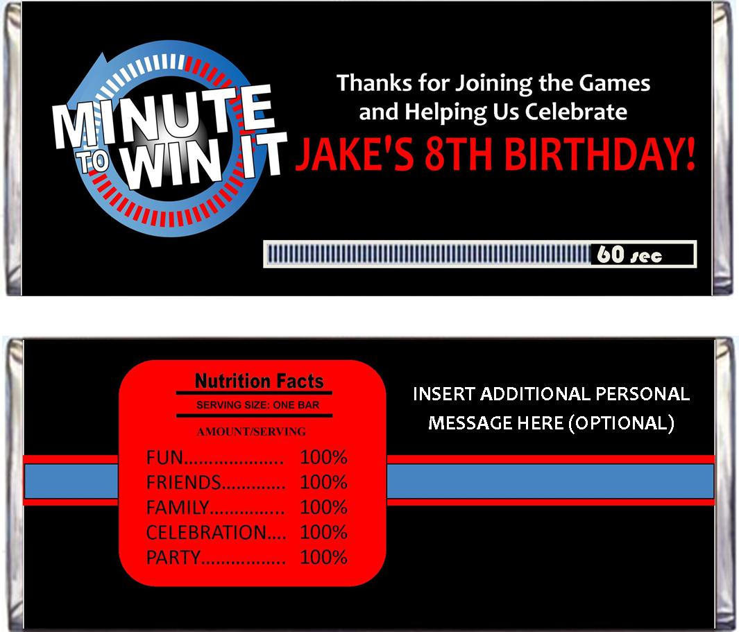 Minute To Win It Party Supplies Printables And Invitations