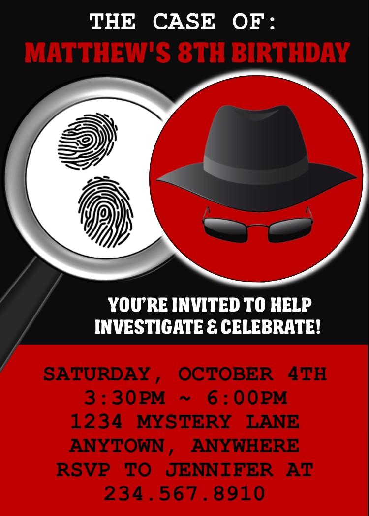 Spy Party Games - Secret Agent Birthday Theme!