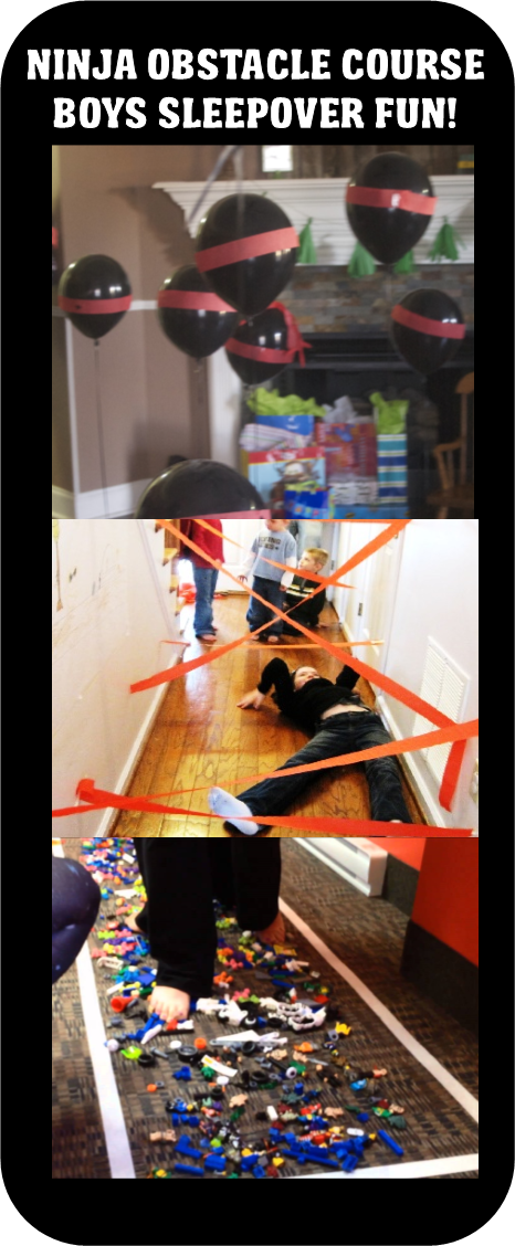 BOYS SLEEPOVER GAMES PARTY IDEAS Ninja Course