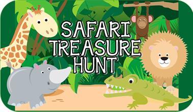 safari animal treasure hunt   printable kids party game