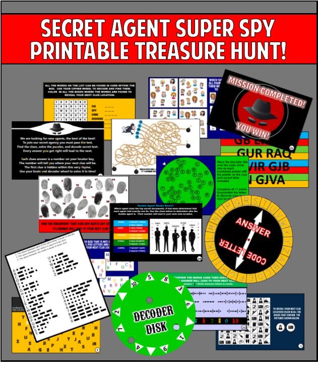 Printable Spy Treasure Hunt