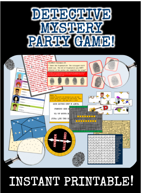 Spy party games secret agent birthday theme secret agent birthday spy party games printable mystery detective game filmwisefo