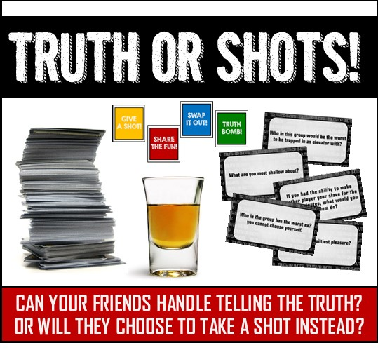Fun Drinking Card Game for s Great for Parties and Game Night Truth or Drink