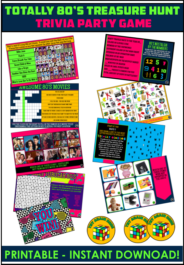 photo about 80's Trivia Questions and Answers Printable identify Thoroughly Amazing 80s topic occasion recommendations and 80s celebration tips