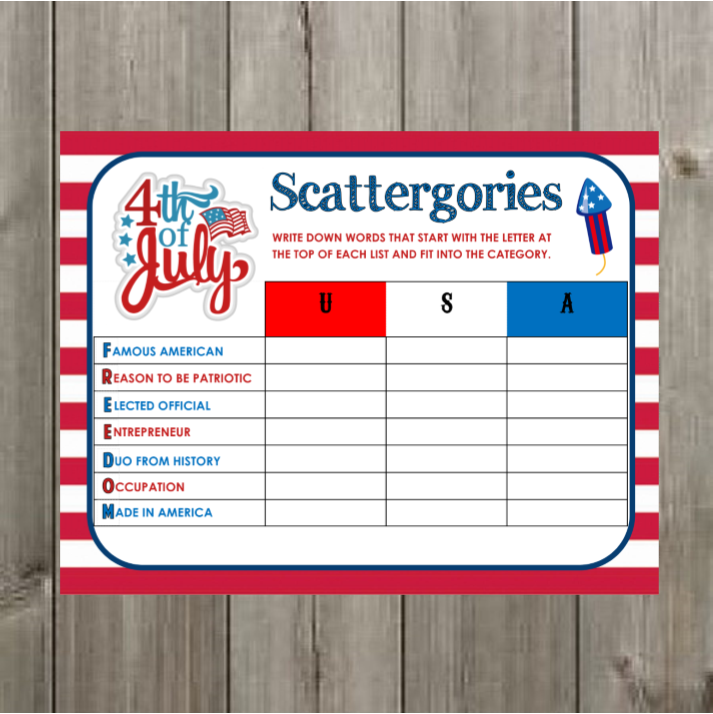 graphic regarding 4th of July Trivia Printable named Final 10 4th of July Celebration Game titles!