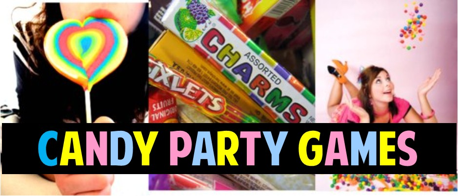 To create a visual feast for the eyes and the mouth consider some of these DIY candy party decoration ...  sc 1 st  Queen of Theme Party Games & Candy Birthday Party DIY Ideas and Theme Games