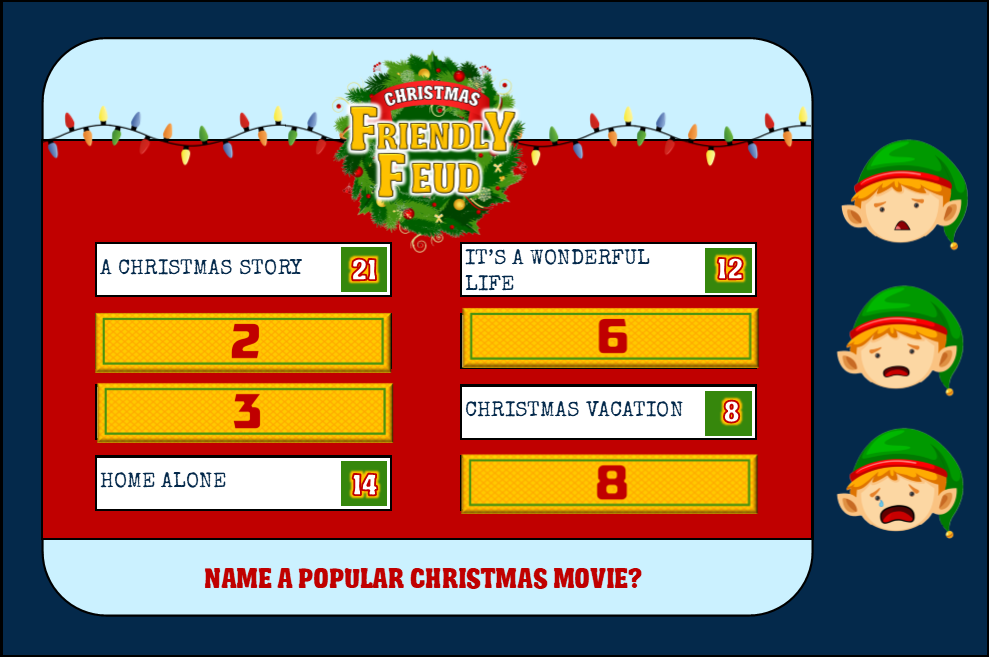 christmas dinner party games christmas family feud instant download