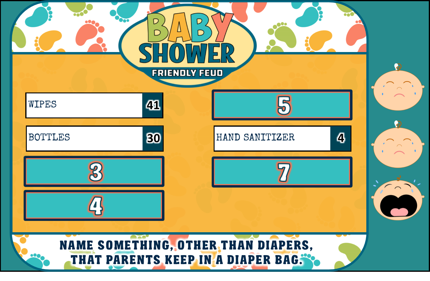 Baby Shower Guessing Games