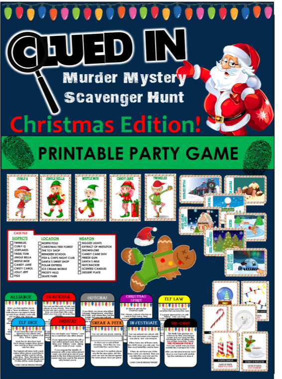 Top 10 Funny Christmas Party Game Ideas Clued In Mystery Hunt