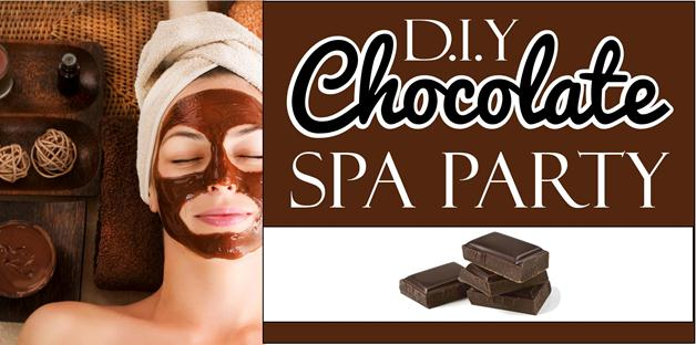 diy chocolate spa party theme ideas