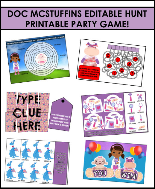 image relating to Printable Doc Mcstuffins referred to as Ultimate Document McStuffins Bash Online games and Guidelines