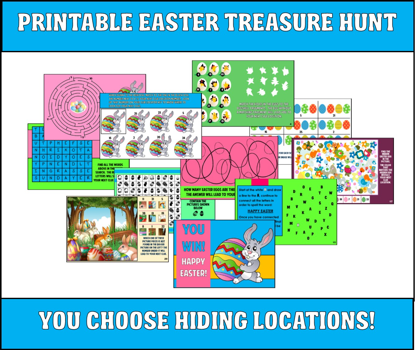 image about Printable Easter Egg Hunt Clues referred to as Printable Easter Treasure Hunt