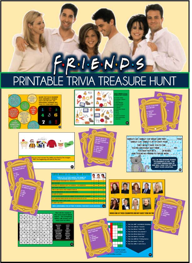 Friends Show Themed Party Games - based on the hit show Friends!