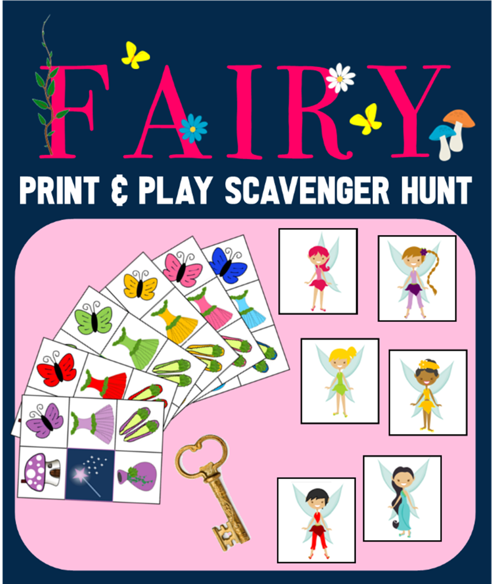 Fairy Scavenger Hunt Printable Game For Birthday Parties