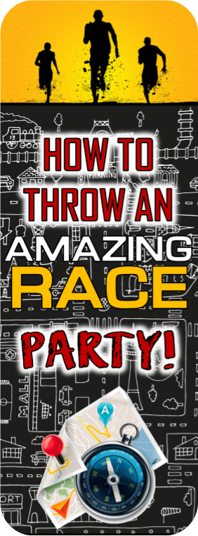 Amazing Race Party Ideas for Pit stops, challenges, clues