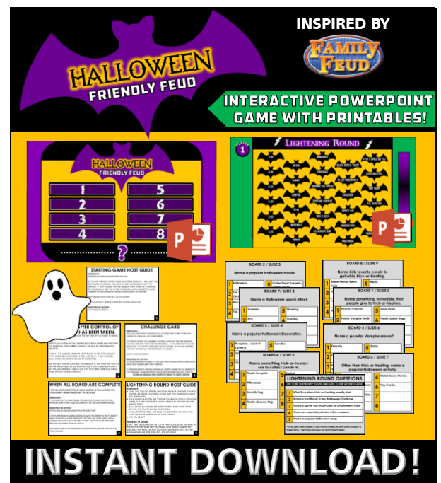 image about Family Feud Printable named Interactive Halloween Household Feud Sport - Powerpoint Instantaneous