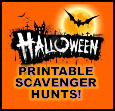 HAlloween Printable Scavenger Hunts