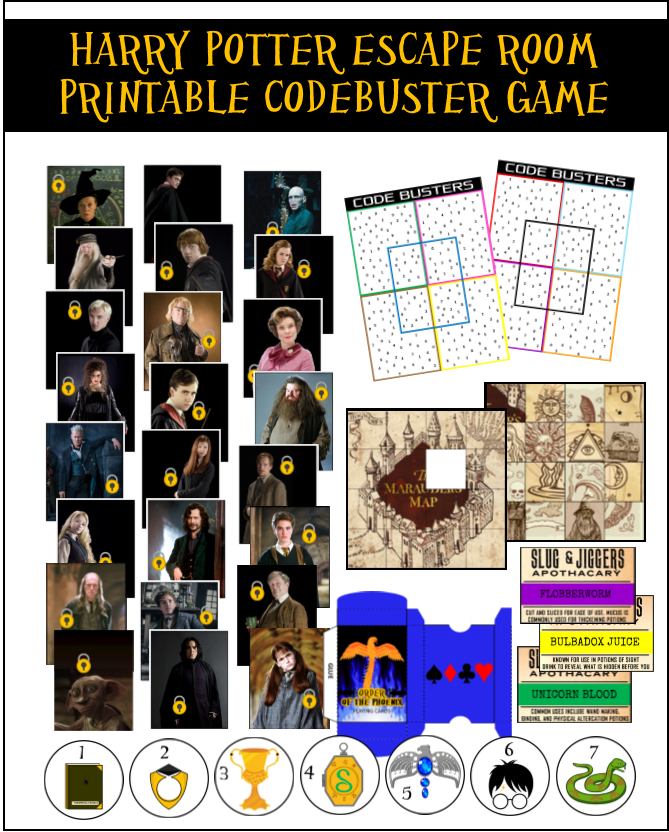 picture relating to Printable Escape Room referred to as Do-it-yourself Harry Potter Escape Place Guidelines Printables