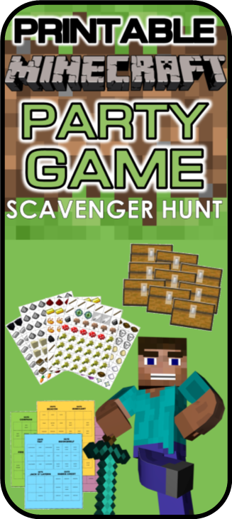 Minecraft Party Game Printable Scavenger Hunt