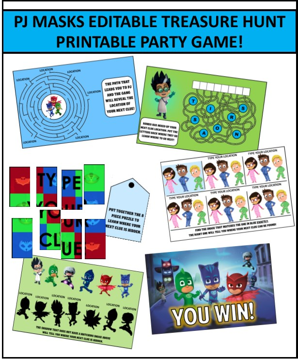 photograph regarding Pj Masks Printable Images referred to as Beloved PJ Masks Celebration Online games
