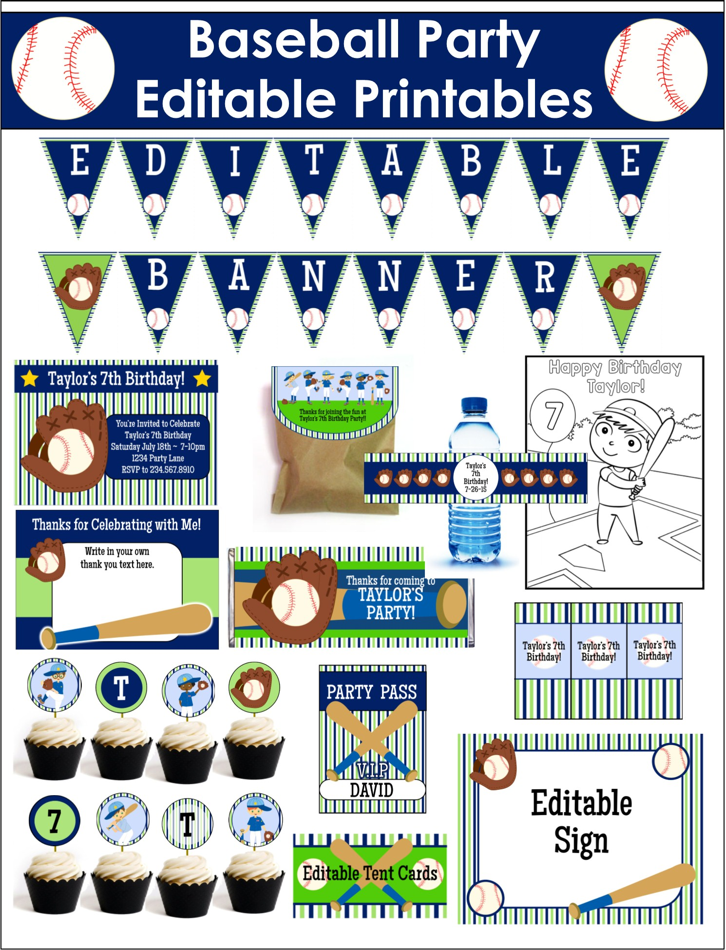 baseball birthday party game ideas printables