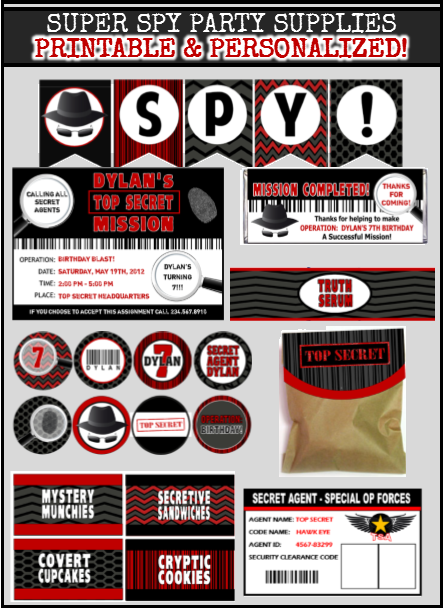 image relating to Secret Agent Badge Printable identified as Spy Get together Game titles - Magic formula Consultant Birthday Topic!