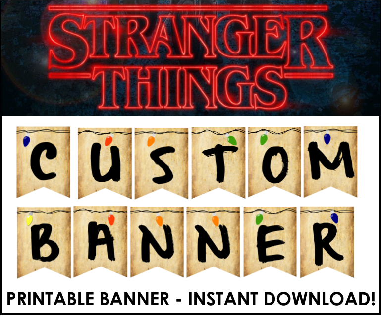 Stranger Things Christmas Lights Png.Stranger Things Party Games And Ideas