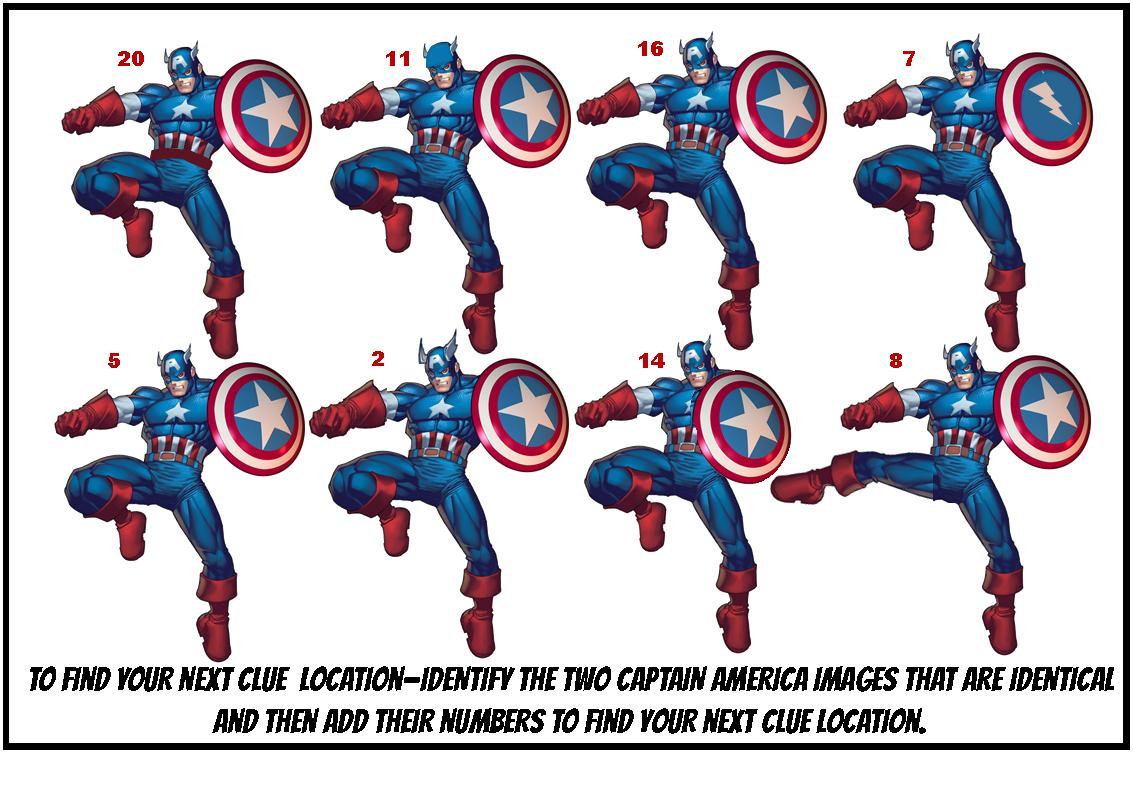 photograph about Super Hero Printable named Printable Superhero Treasure Hunt Activity