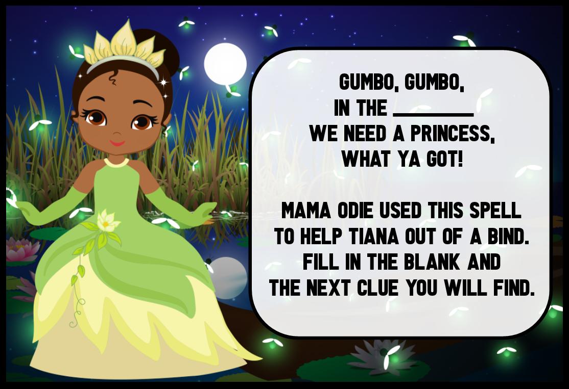 Printable Birthday Treasure Hunt Instant Download Scavenger Hunt Birthday Games Princess Treasure Hunt for Girls
