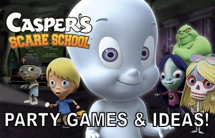 Casper Halloween Party.Casper Scare School Party Games Ideas