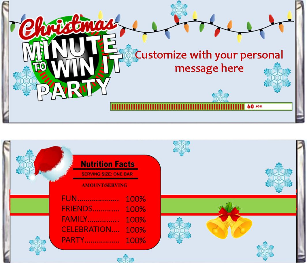 christmas minute to win it candy bar