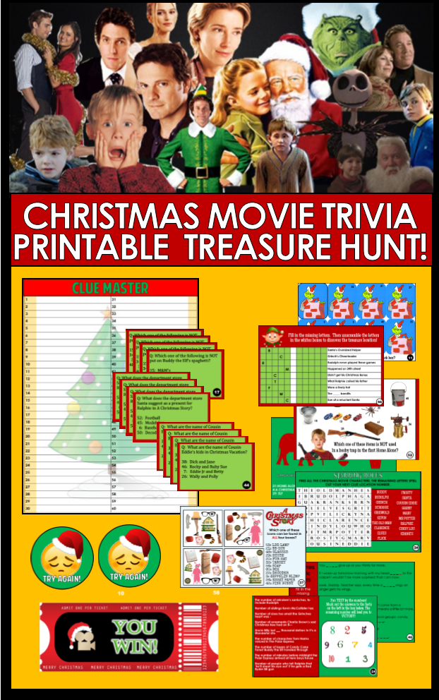 Top 10 Funny Christmas Party Game Ideas Trivia Treasure Hunt