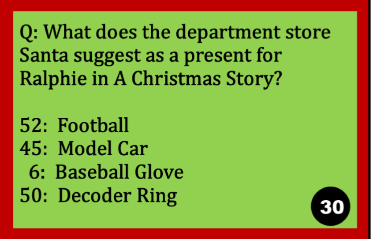 It is a graphic of A Christmas Story Trivia Questions and Answers Printable for general knowledge