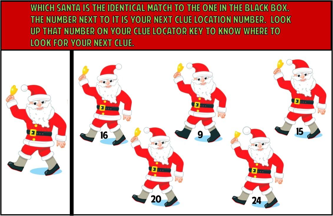Kids Christmas Treasure Hunt Party Game ~ Printable