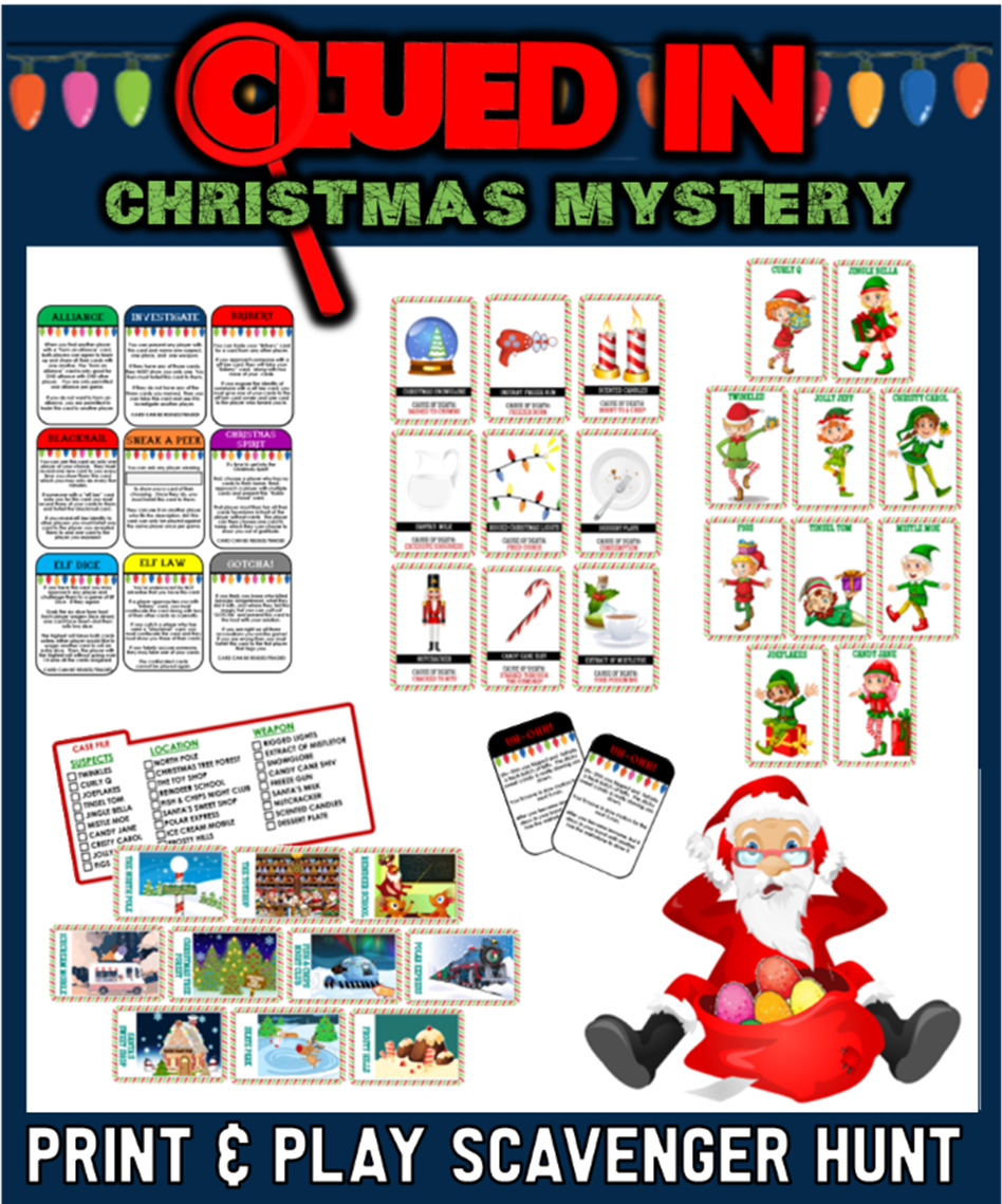 Printable Christmas Party Games For Kids Teens And Adults