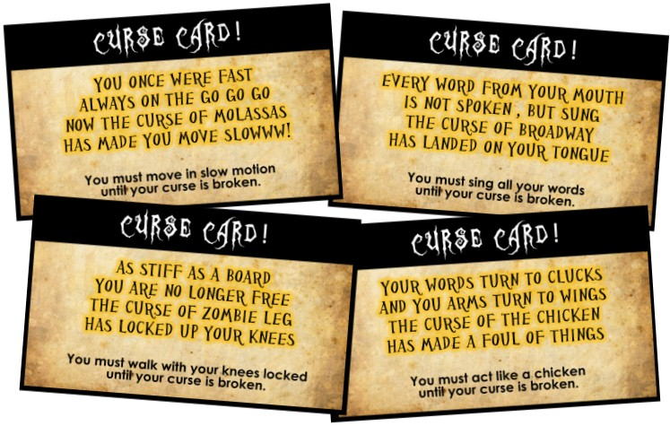 clues spells and curses scavenger hunt