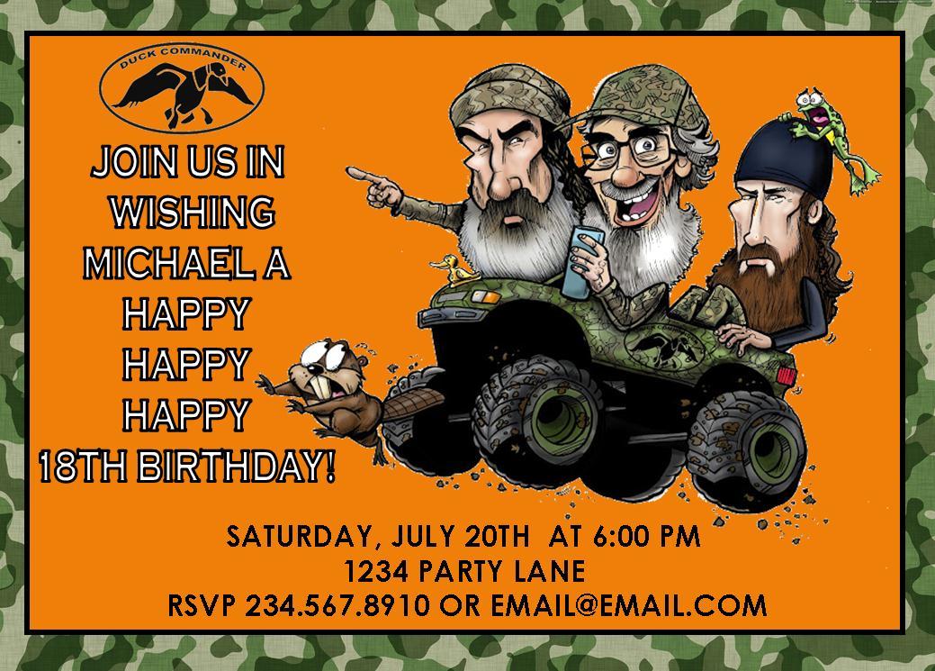 Duck Dynasty Birthday Invitations