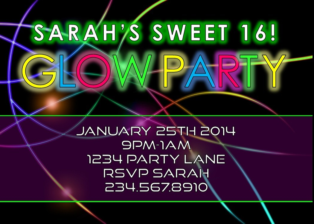 LEAVE GLOW PARTY IDEAS