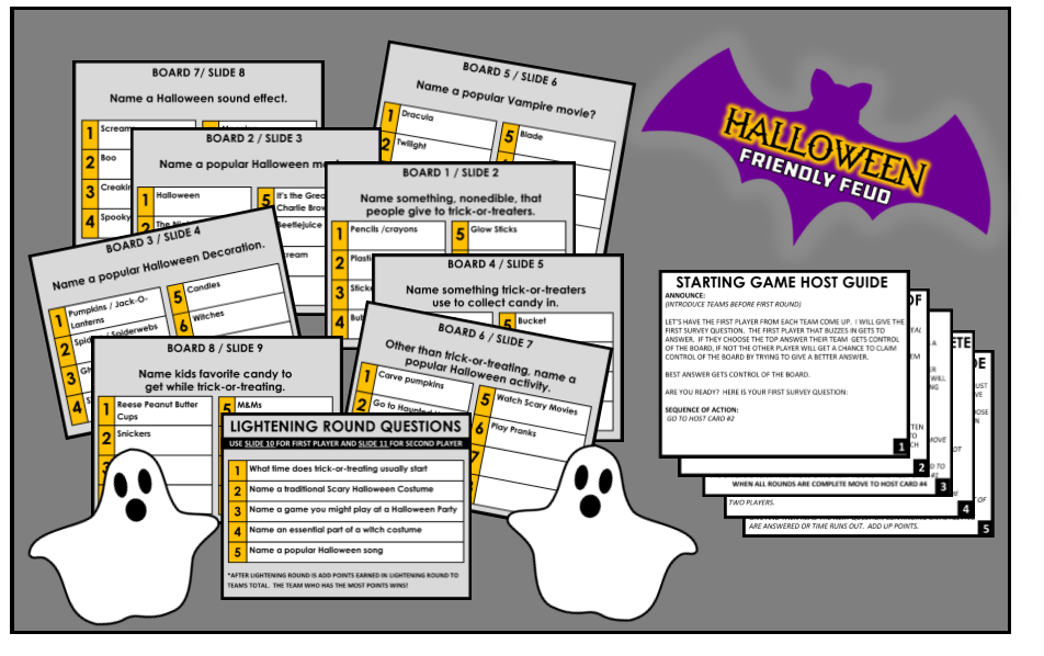 graphic relating to Family Feud Questions and Answers Printable Free named Interactive Halloween Household Feud Video game - Powerpoint Fast