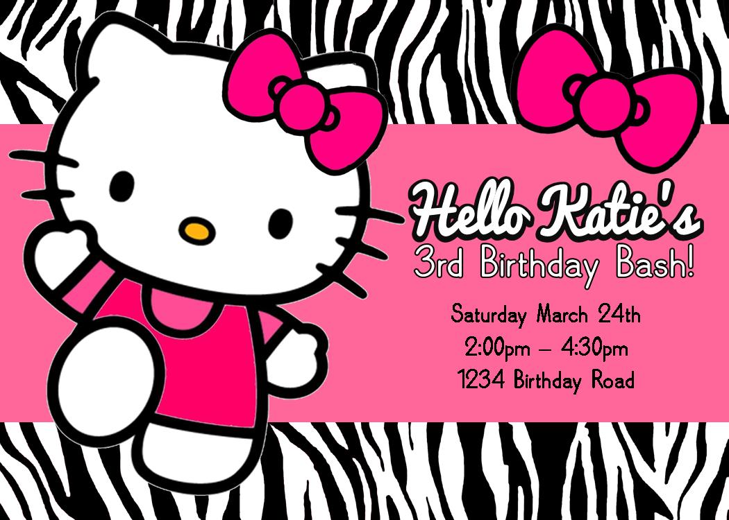 DIY Hello Kitty Party Games – Personalized Hello Kitty Birthday Invitations