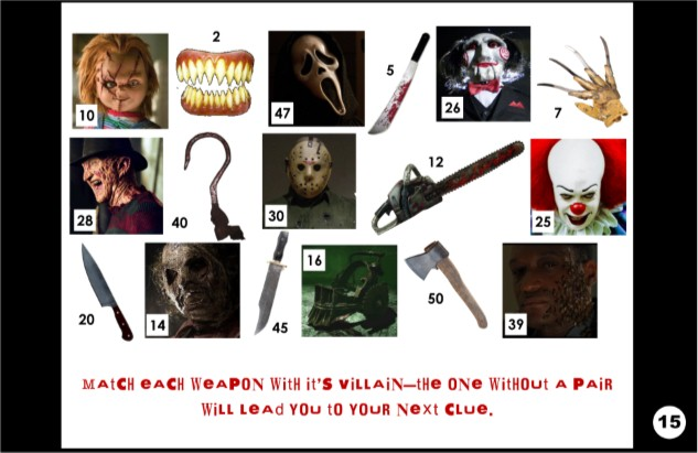 Impertinent image in horror movie trivia questions and answers printable