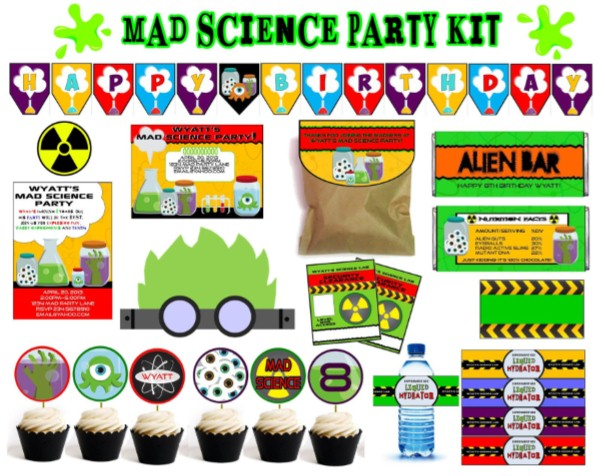 Mad Science Party Games Ideas Invitations and party supplies – Mad Scientist Birthday Party Invitations