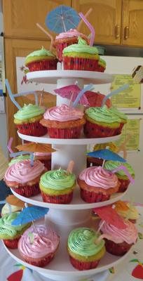 Margaritaville party cupcakes