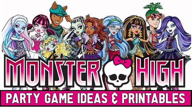 Monster High Party DIY Games Printable Supplies