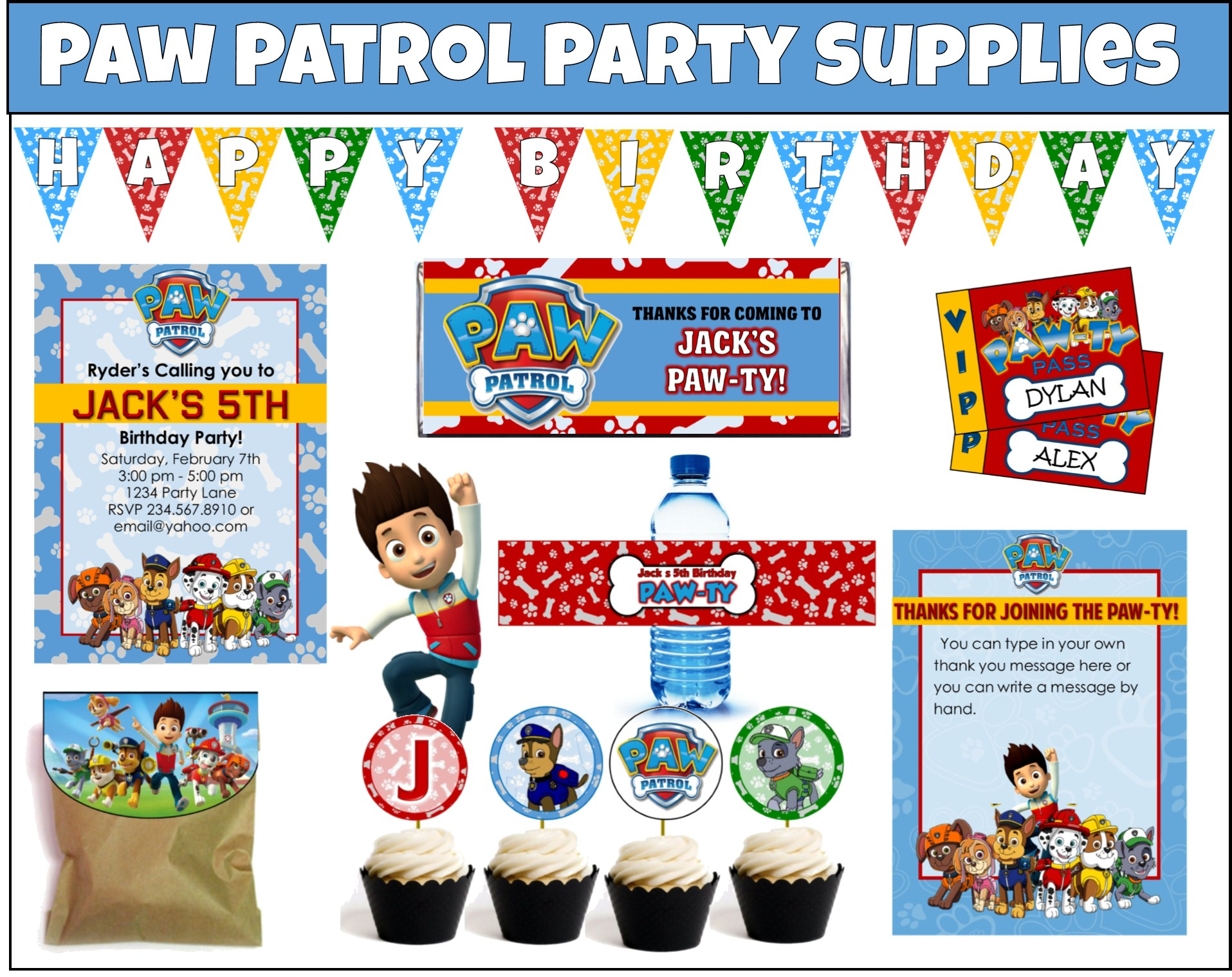 Printable Paw Patrol Party Supplies