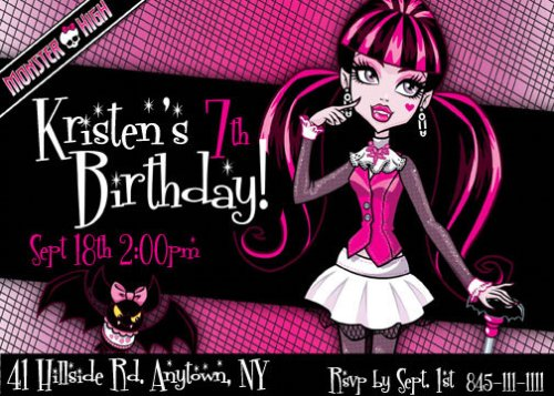 awesome monster high party games  diy and printables, Birthday invitations