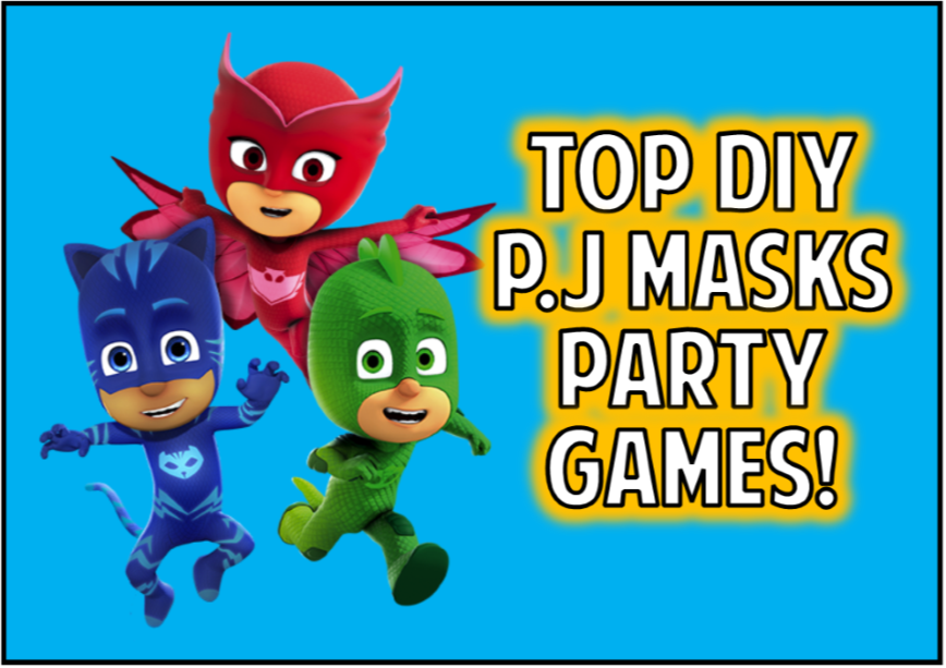 diy pj masks party games