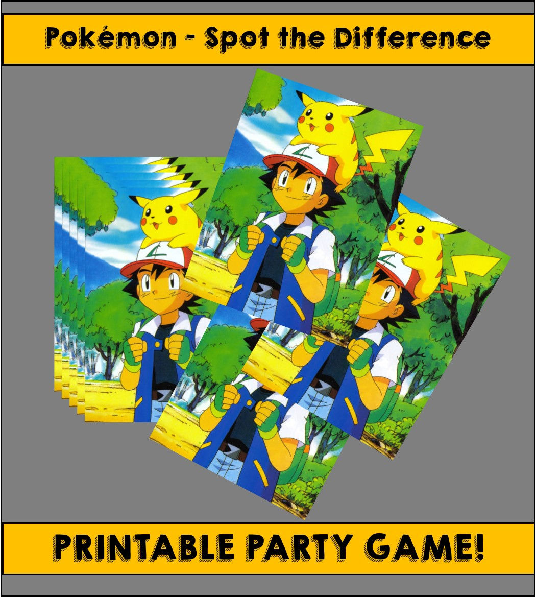 Playful image within printable pokemon party games