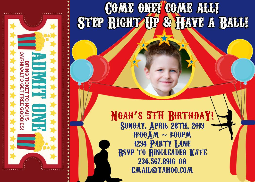 Top 10 Carnival Theme Party Games for your kids backyard carnival – Tattoo Party Invitations