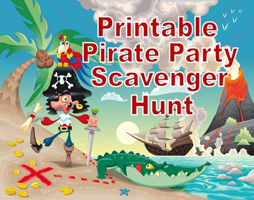 Printable Pirate Party Treasure Hunt! - photo#11